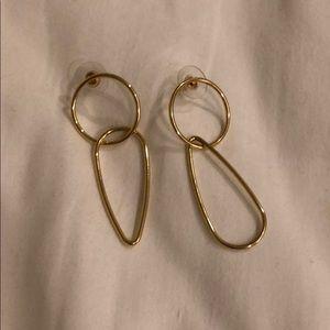 BaubleBar Gold Geometric Earrings